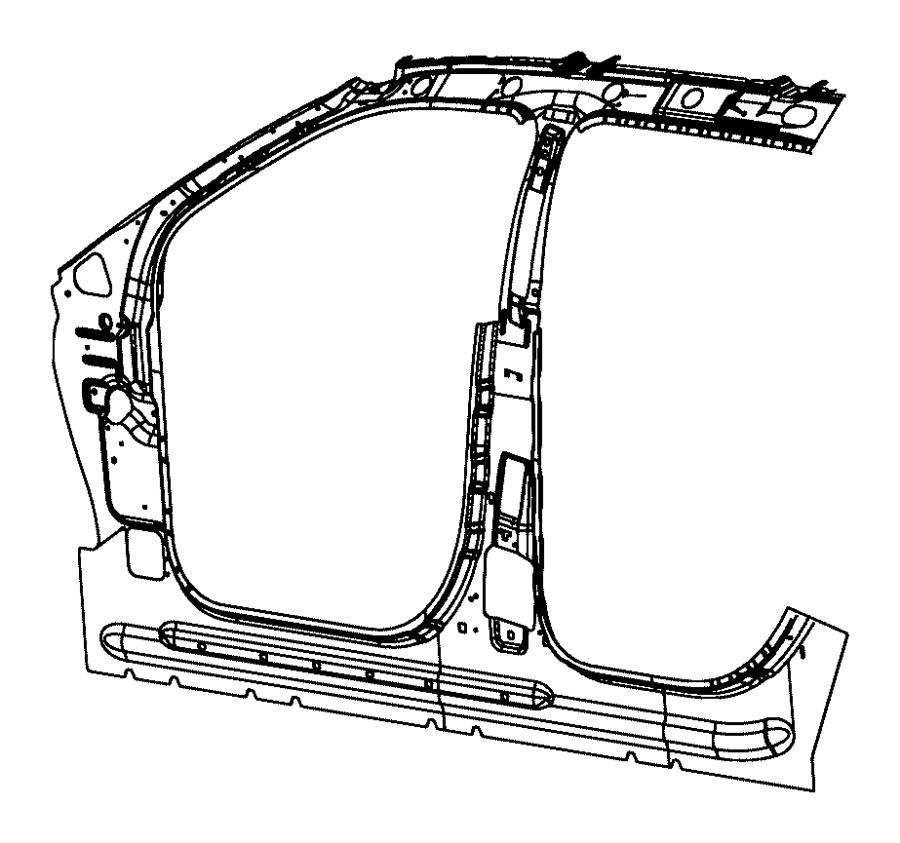Dodge Durango Panel. Body side aperture inner. Front