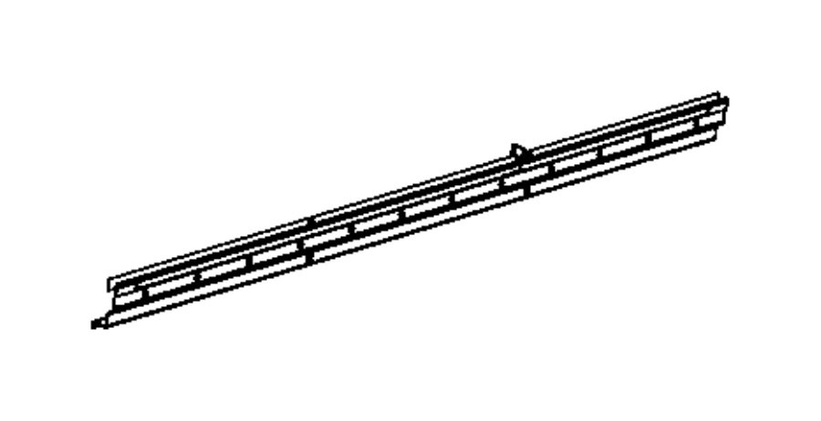 Ram ProMaster Reinforcement. Side panel. Right. Body