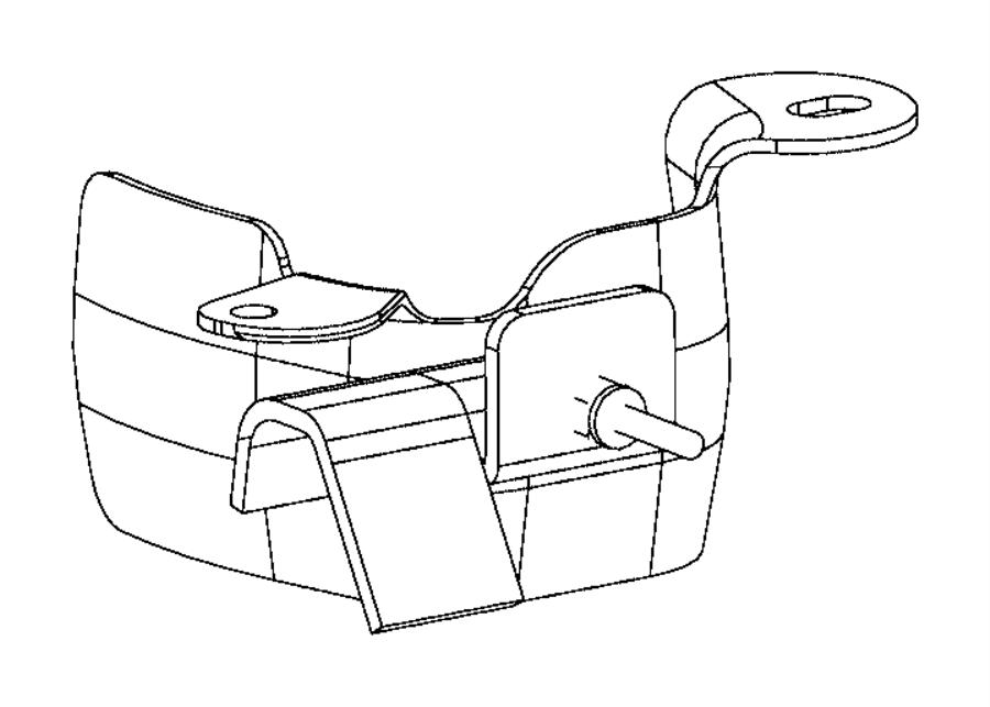 Dodge Viper Heat shield. Engine mount. Right side