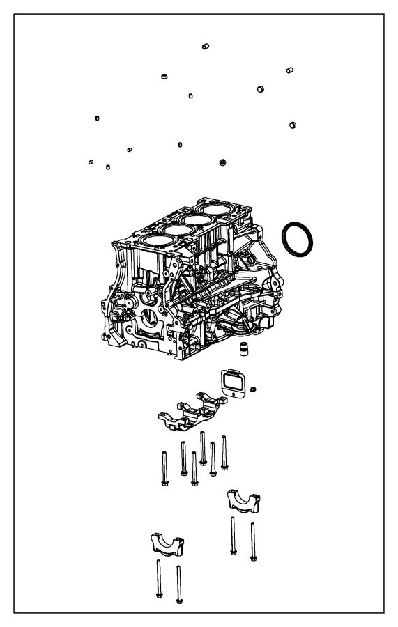 2013 Jeep Patriot Engine. Long block. [engine oil cooler