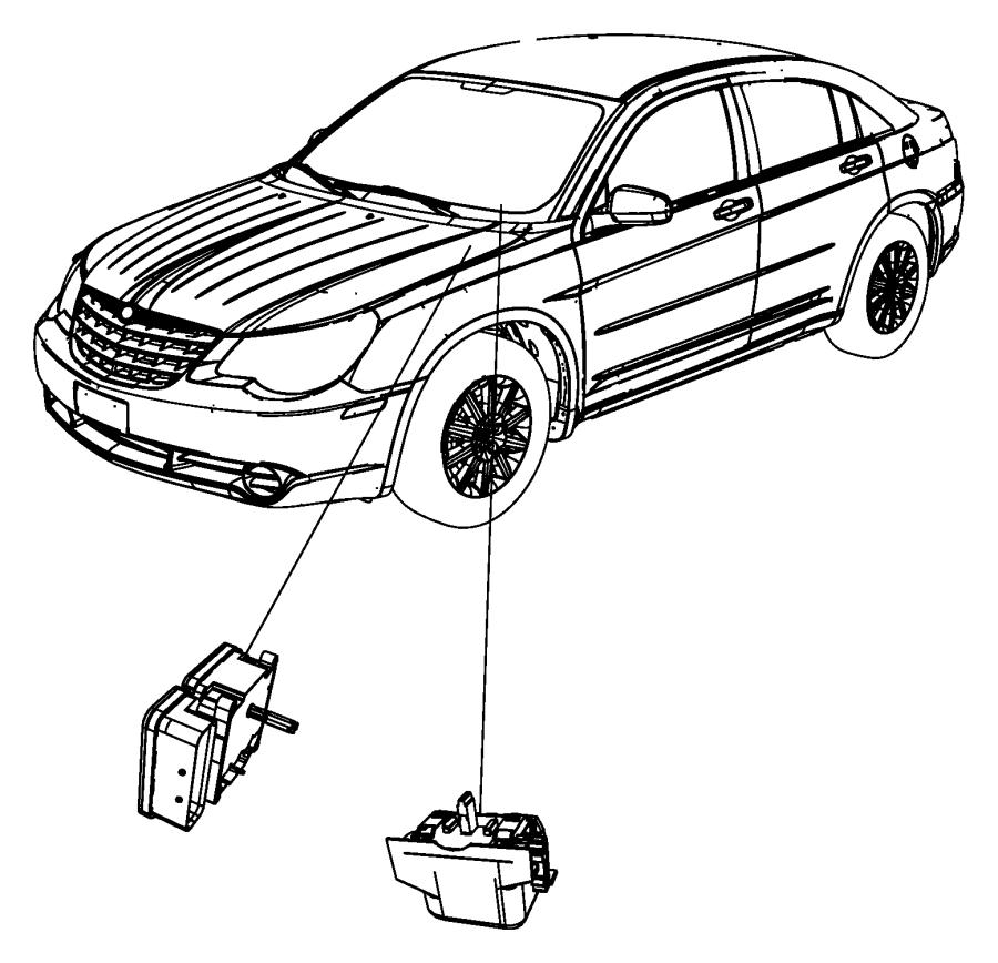 Chrysler 200 Module. Anti-lock brake system. Wheel, disc
