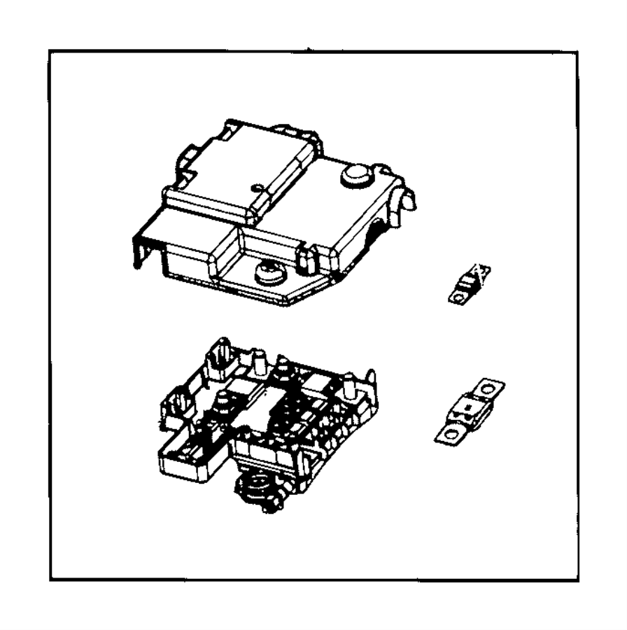 2016 Dodge Ram 2500 Fuse box. Battery place holder. Heater