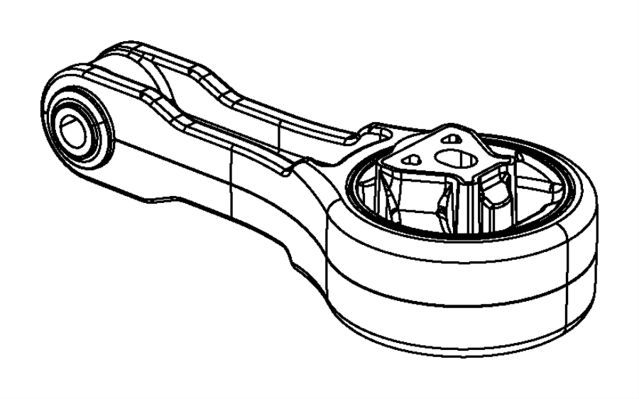 Dodge Avenger Engine mount. Rear. Fwd, mounting