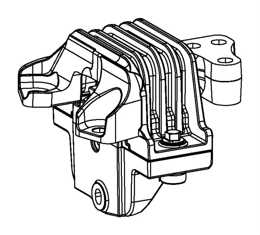 2017 Dodge Journey Isolator. Transmission mount. Left side