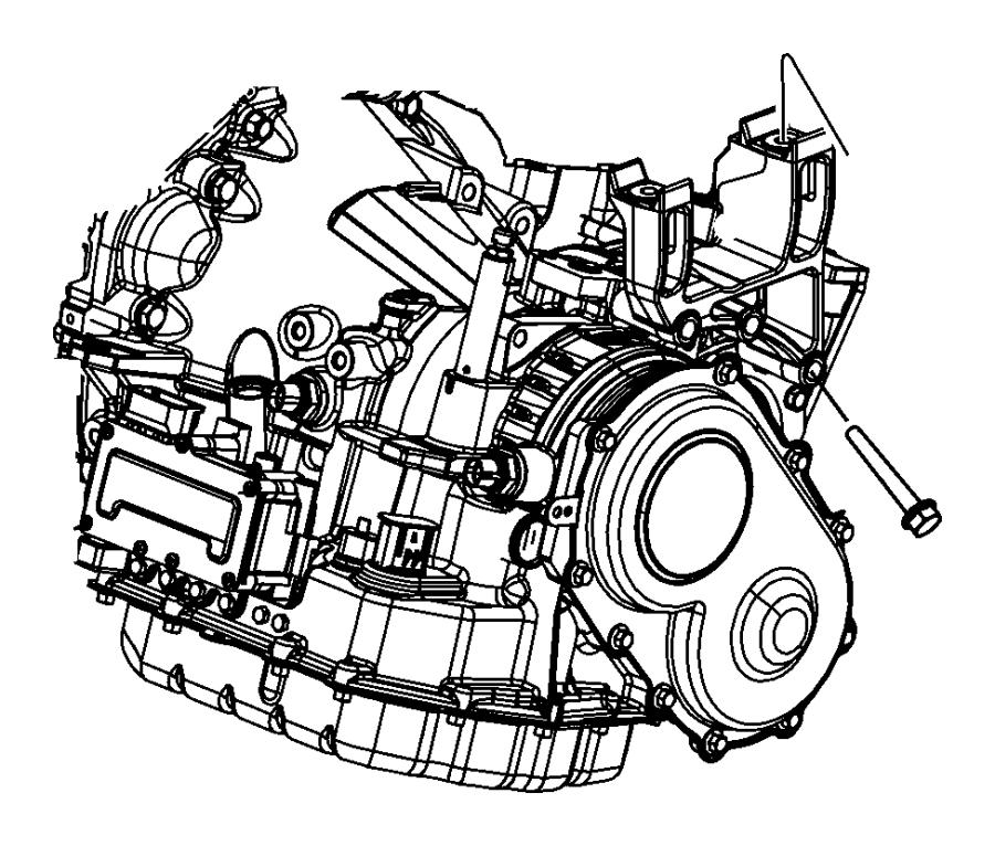 2014 Chrysler 200 Bracket. Transmission mount. Left side
