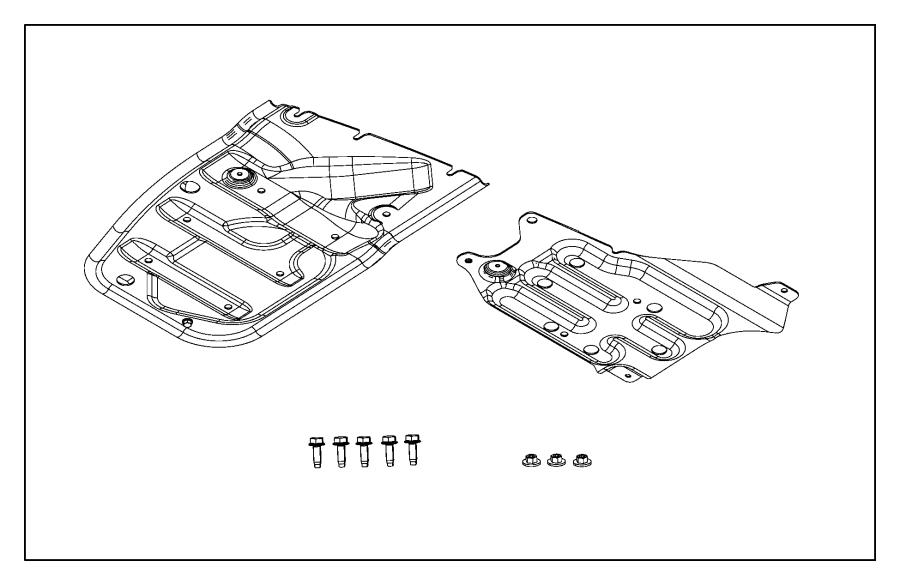 2011 Jeep Grand Cherokee Skid plate. Transfer case. [x3f