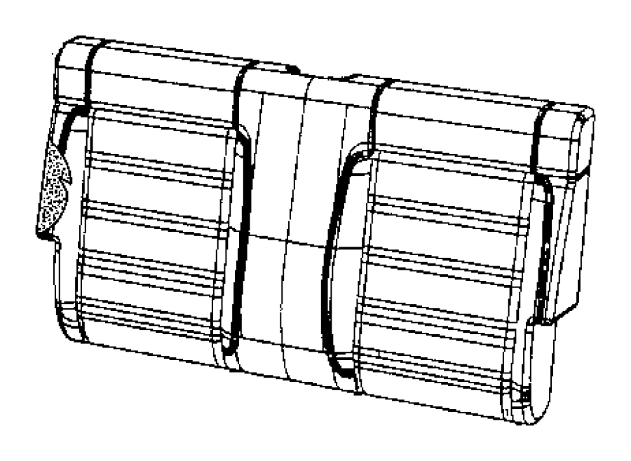 Jeep Wrangler Cover. Rear seat back. Trim: [leather