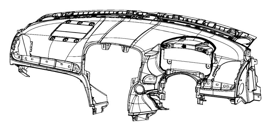 Chrysler 300 Instrument panel. Base panel. Right hand