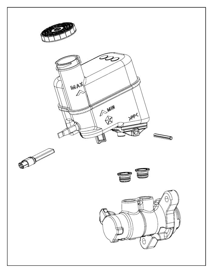 2015 Chrysler 200 Master cylinder. Brake. Mopar, brakes