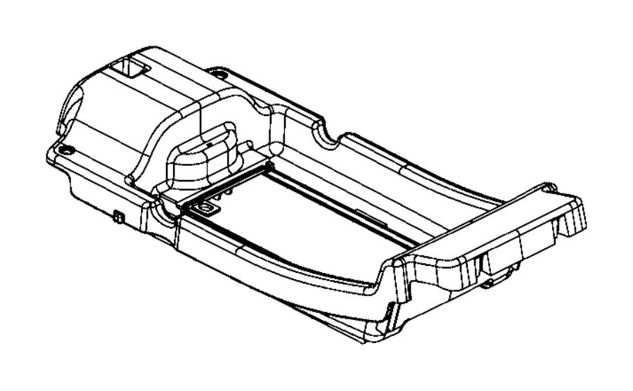 Jeep Cherokee Tray. Floor console. [wireless charging pad