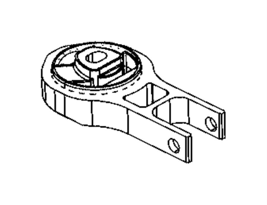 2014 Fiat 500L Isolator. Engine. Torque strut. [6-spd c635