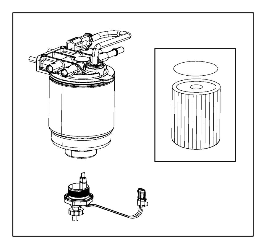 2014 Ram 3500 Filter kit. Fuel/water separator. Gasket