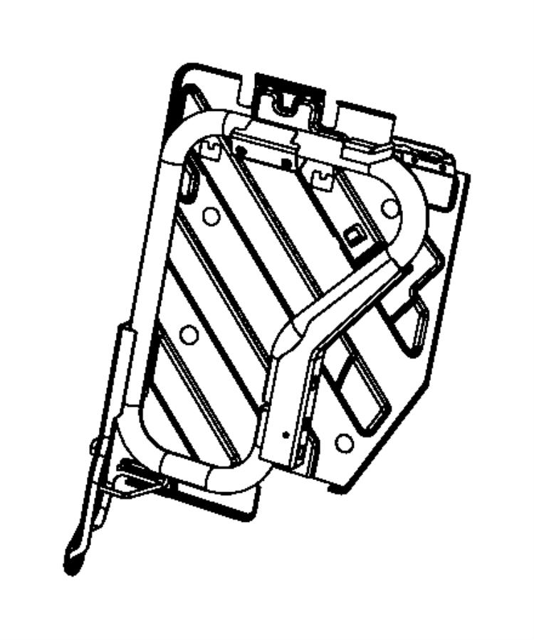 Jeep Wrangler Frame. Rear seat back. Export. Trim: [black