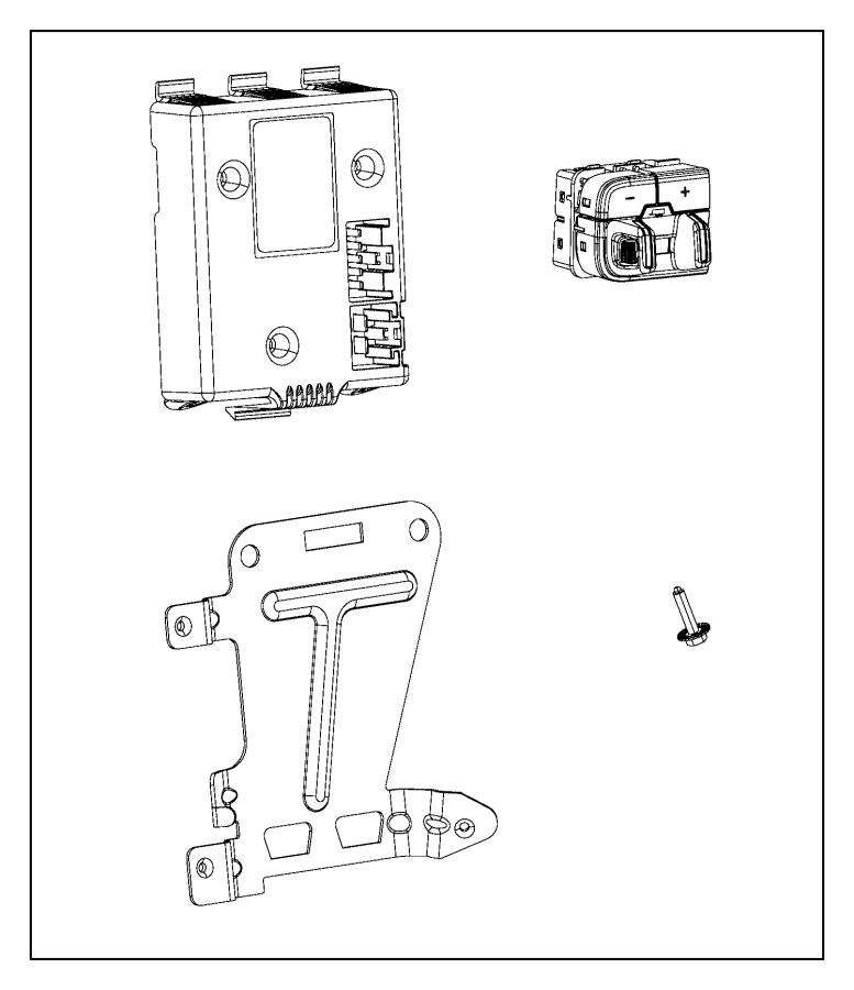 2018 Ram 2500 Switch. Instrument panel, trailer brake