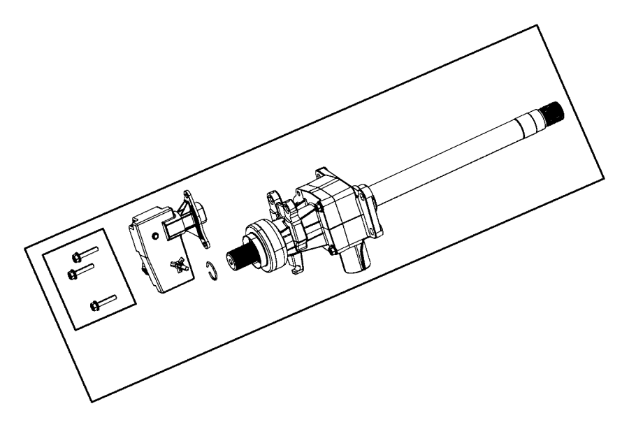 2014 Dodge Charger Actuator, solenoid. Axle disconnect