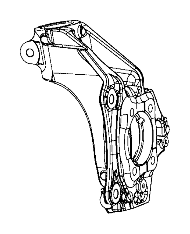 2016 Chrysler 200 Knuckle. Front. Left. Suspension