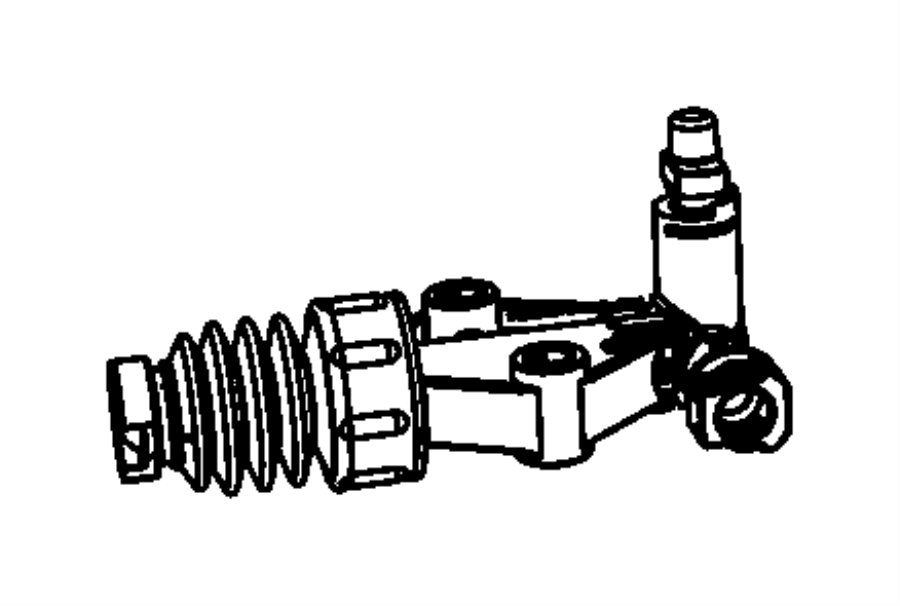2012 Fiat 500 Slave cylinder assembly. Clutch. After 03/01