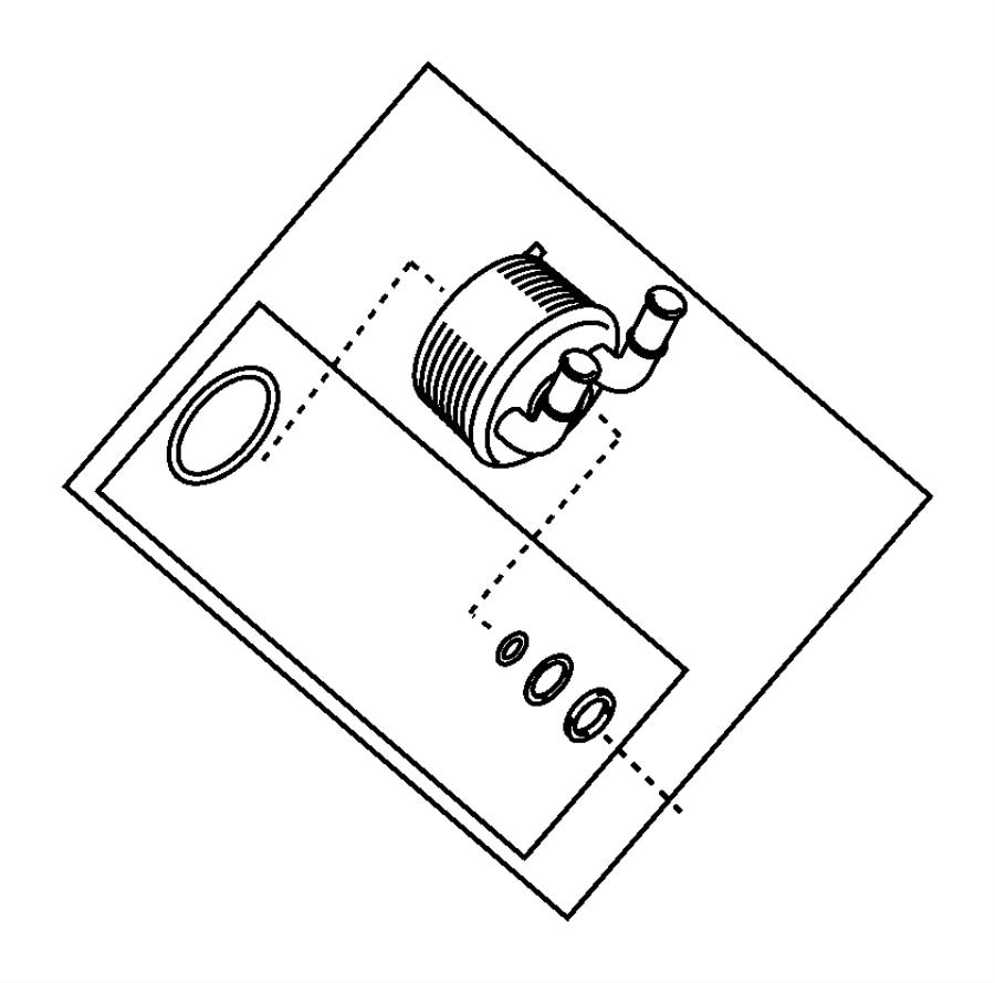 Fiat 500 Seal kit. Transmission oil cooler. [160 horse