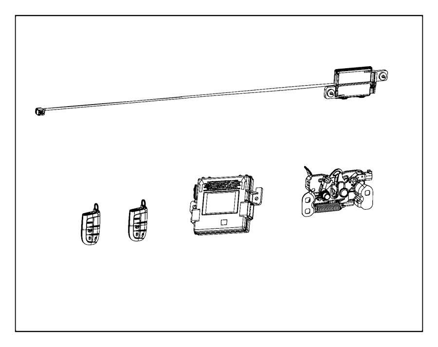 2015 Jeep Cherokee Receiver. Hub. Keyless, remote, start