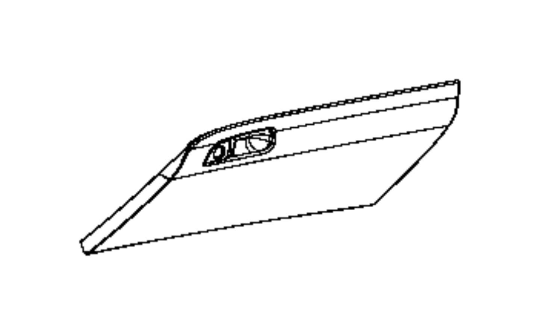 Dodge Challenger Glove Box Instrument Panel Trim All