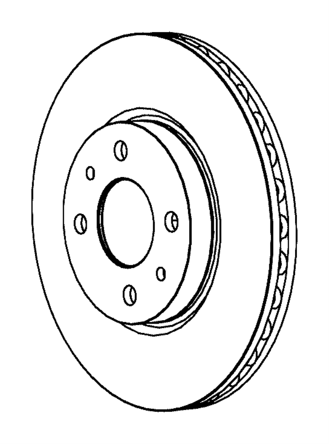 2017 Fiat 500 Rotor. Brake. Front. Export. [4-wheel disc