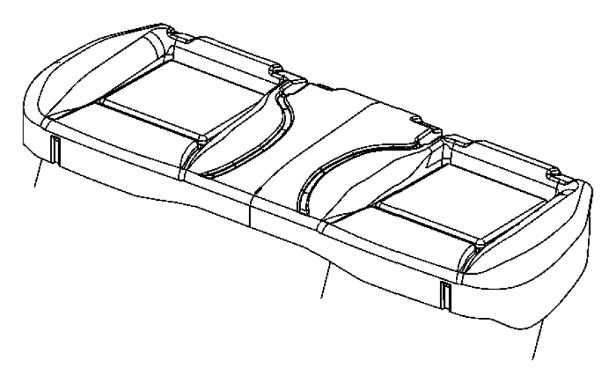 2014 Dodge Challenger Cover. Rear seat cushion. Trim