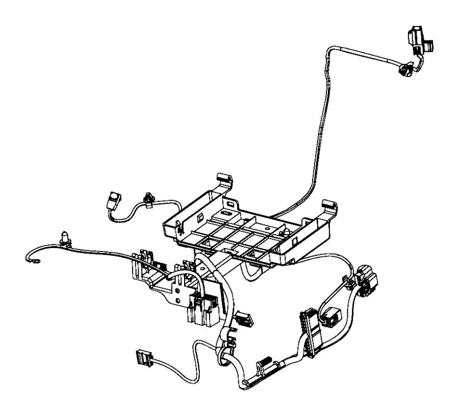 2017 Dodge Challenger Wiring. Seat cushion. Driver. Trim