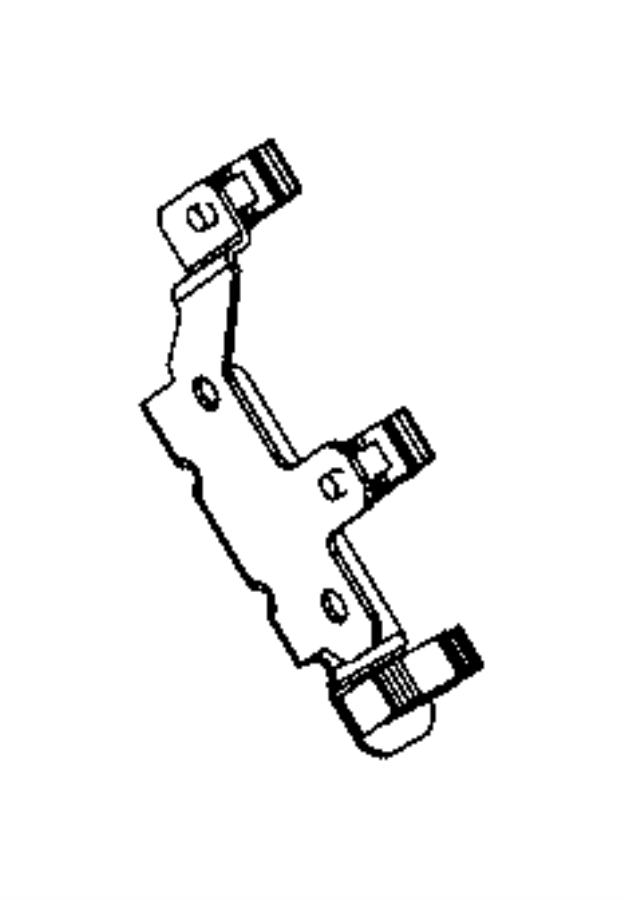 2014 Ram 1500 Bracket. Transmission wiring support. Trim