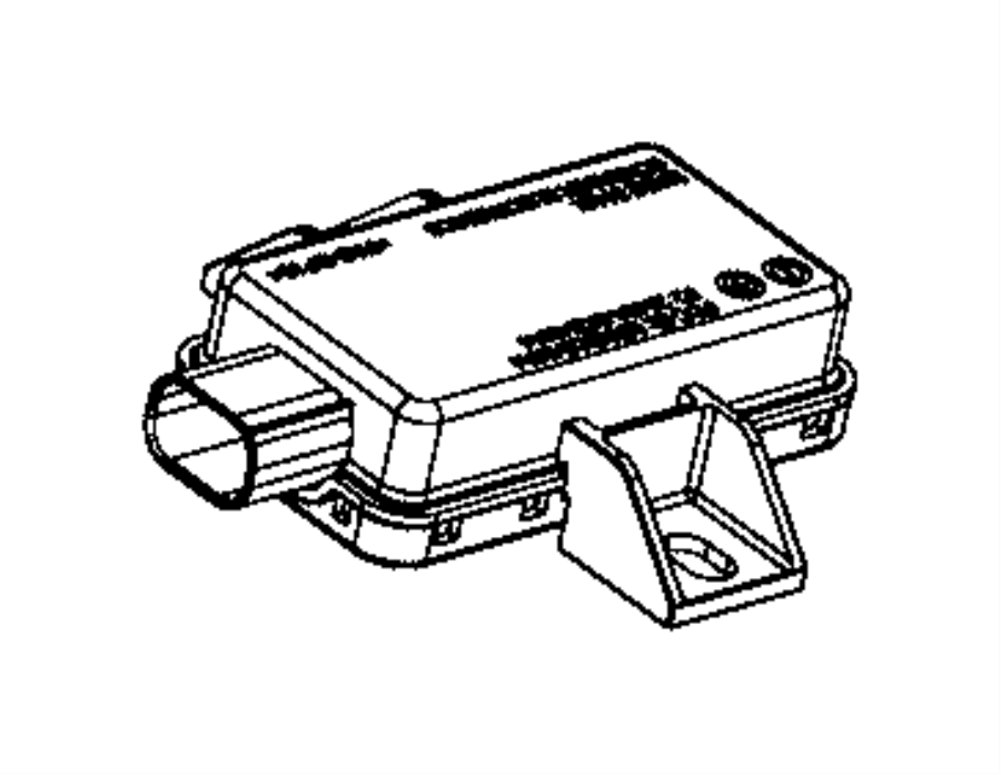 2017 Dodge Viper Module. Tire pressure monitoring. Display