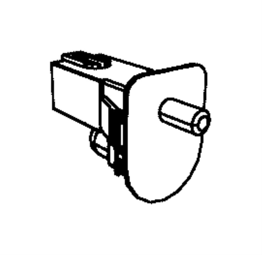 2014 Dodge Journey Sensor. Brake pedal. Transmission