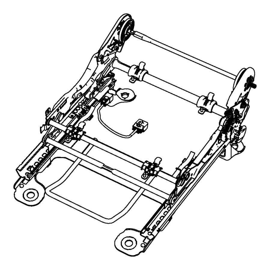 Chrysler Sebring Adjuster. Manual seat. Trim: [premium