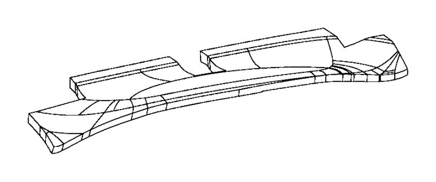 2012 Jeep Wrangler Pad. Instrument panel. Silencer top