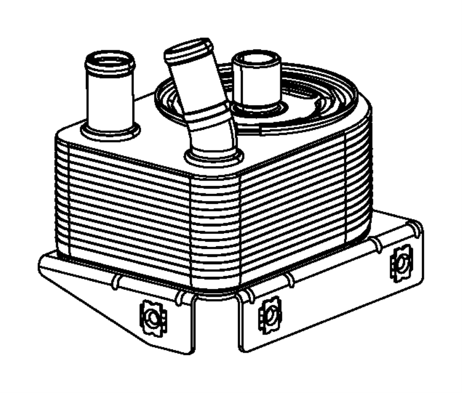 2013 Dodge Dart Connector. Engine oil cooler. [engine oil