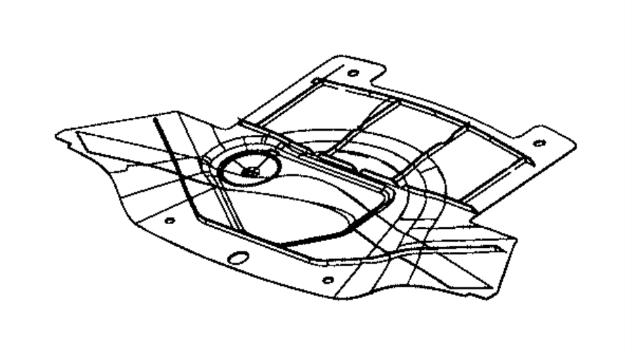 2016 Dodge Challenger Belly pan. Front. Engine. Underbody