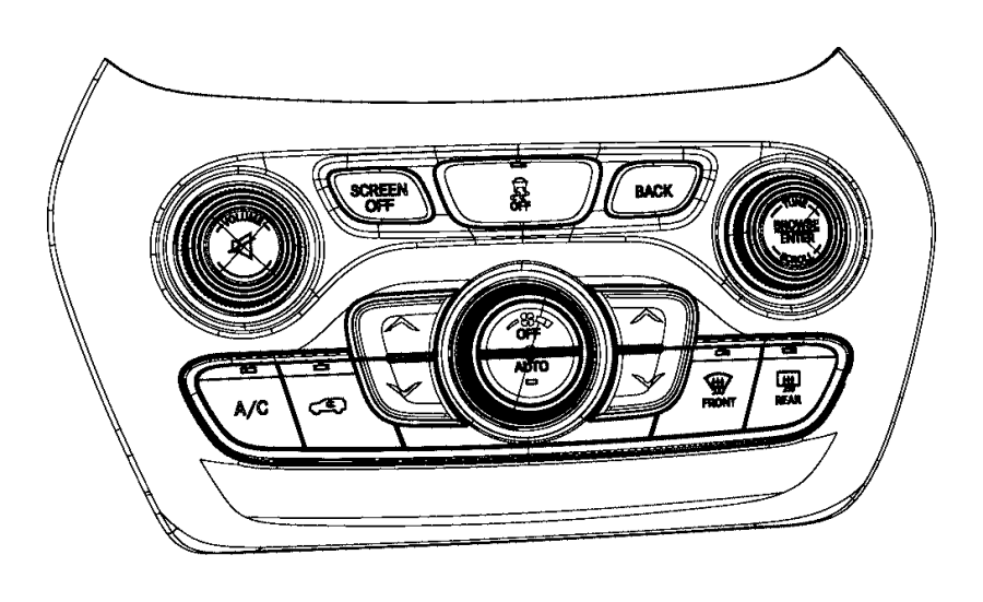 2015 Jeep Cherokee Control. Used for: a/c and heater
