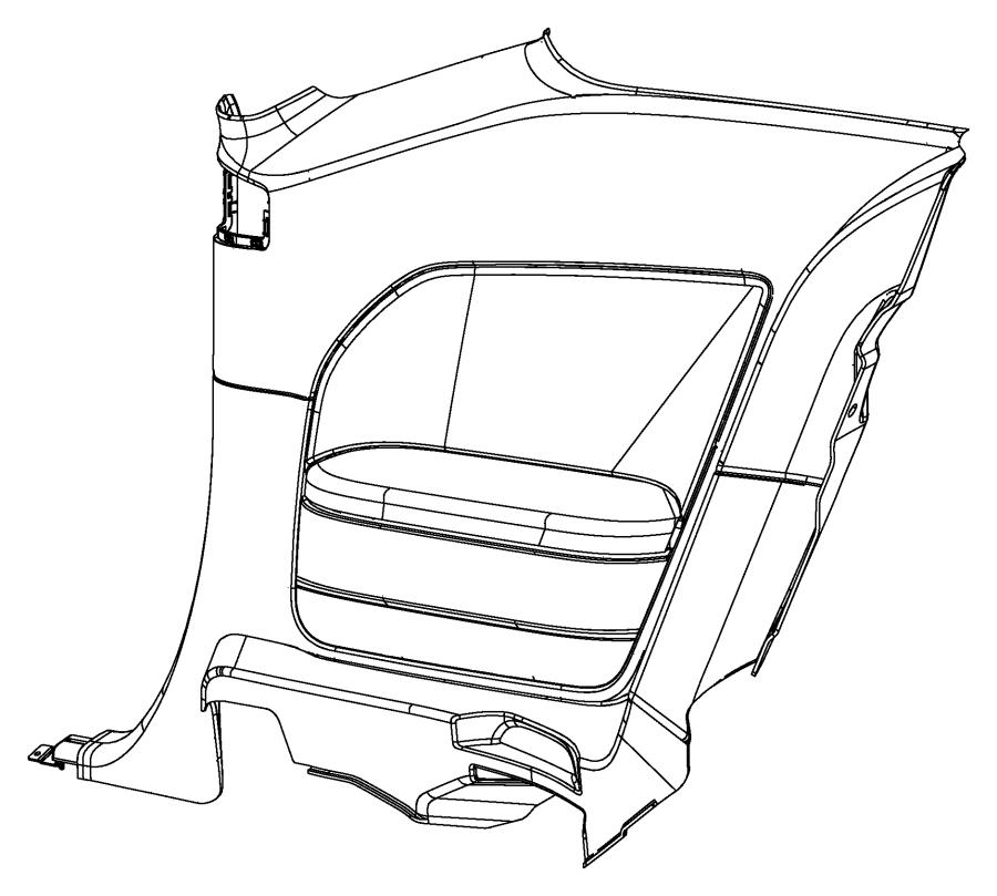 Dodge Challenger Panel. Quarter trim. Left. [18 speakers