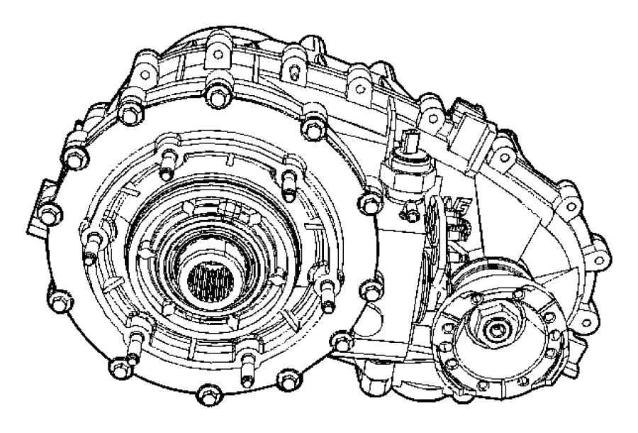 2010 Jeep Wrangler Transfer case. Np241. Relabel. Assembly