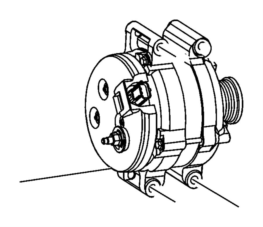 2014 Jeep Grand Cherokee Generator. Engine. [220 amp