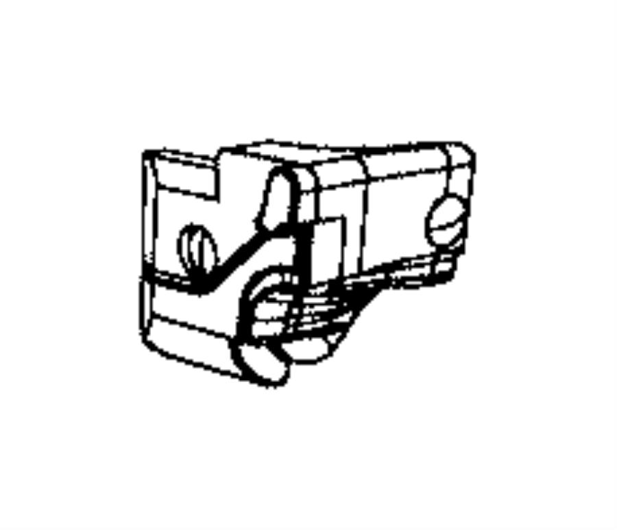 2016 Jeep Wrangler Seal. B-pillar belt body side. Left