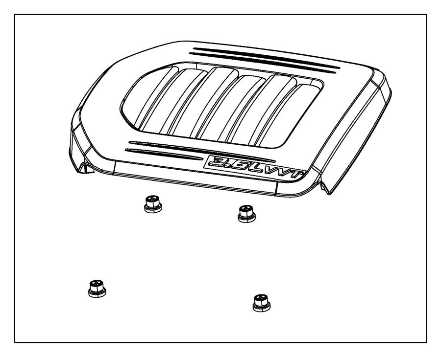 2019 Dodge Grand Caravan Grommet. Engine, related, cover