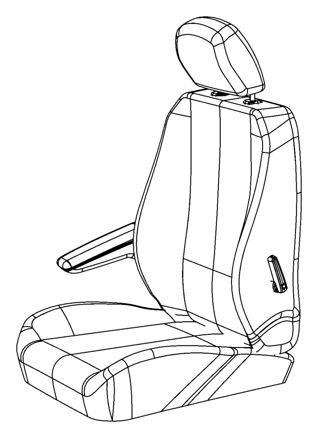 Chrysler Town & Country Headrest. Front. Left, right