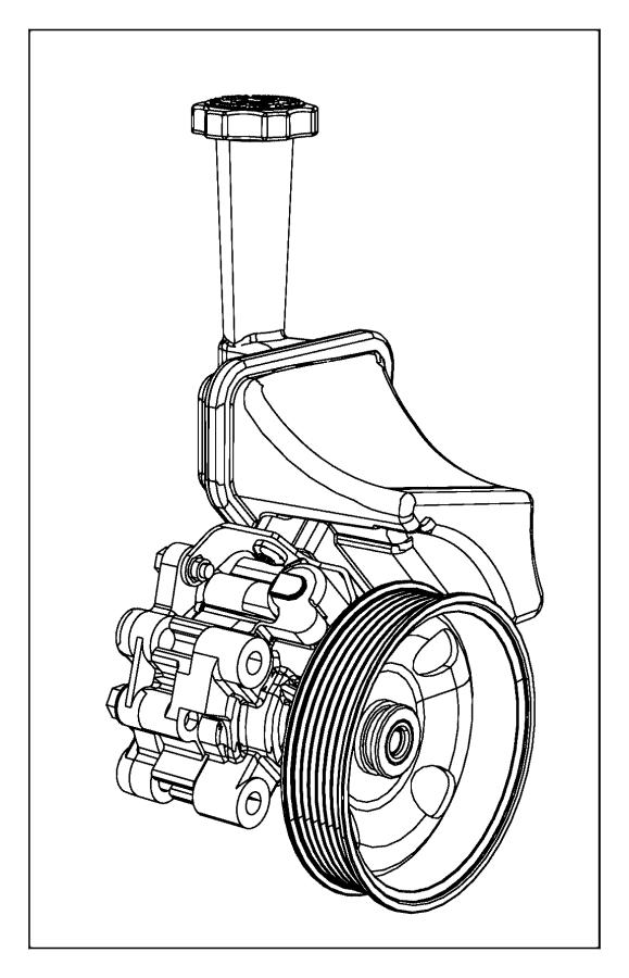 2014 Chrysler 300 Pump. Power steering. Reservoir, esd