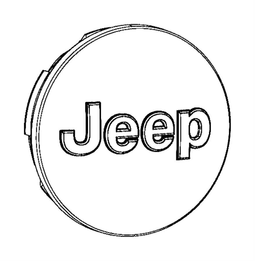 2013 Jeep Wrangler Cap. Wheel center. Color: [no