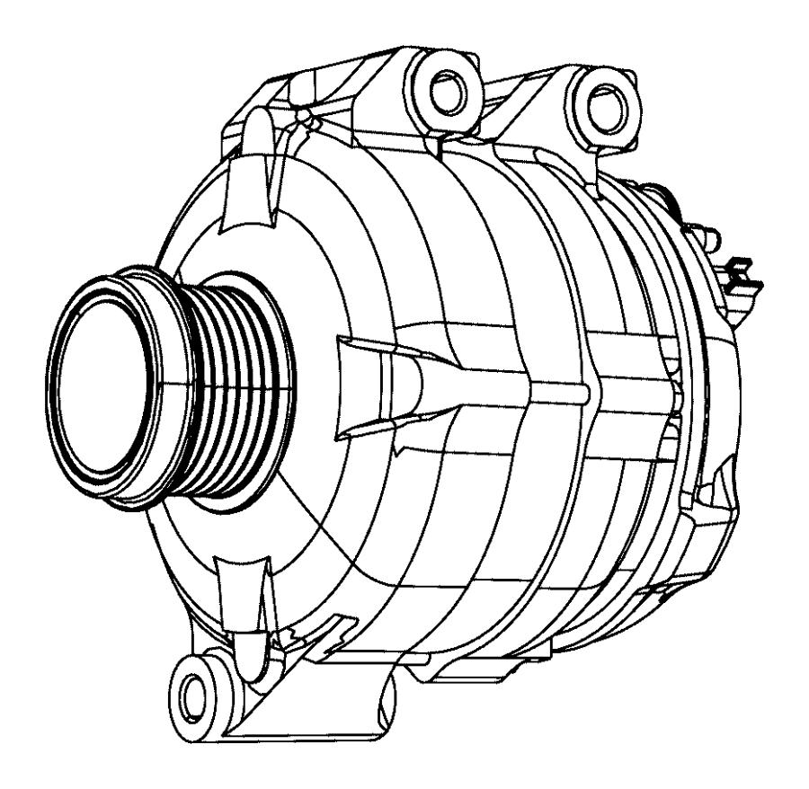 2012 Dodge Grand Caravan Generator kit. Engine. Alternator