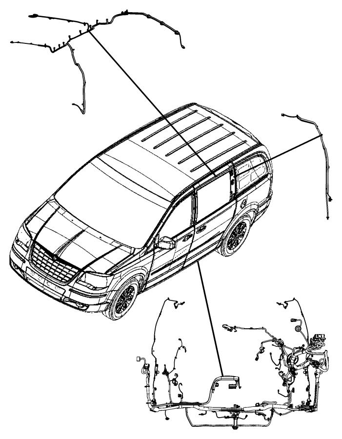 2014 Dodge Grand Caravan Wiring. Body. C-pillar. [power
