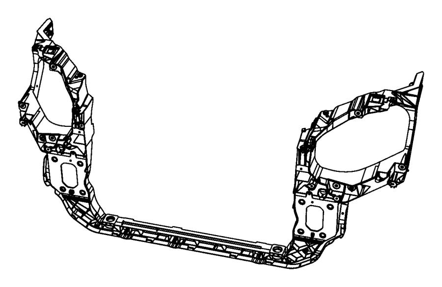 2008 Dodge Grand Caravan Panel. Radiator closure