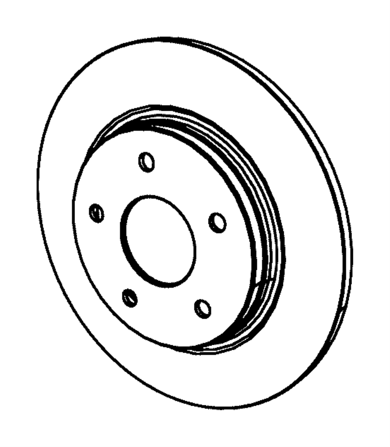 2019 Dodge Grand Caravan Rotor. Brake. Rear. Disc, wheel