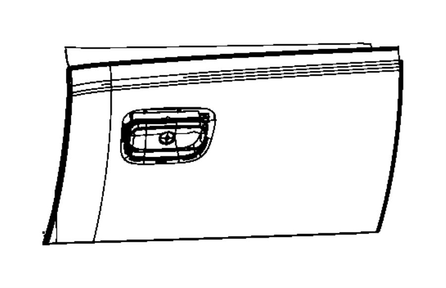 2015 Jeep Grand Cherokee Door. Glove box. Export, right
