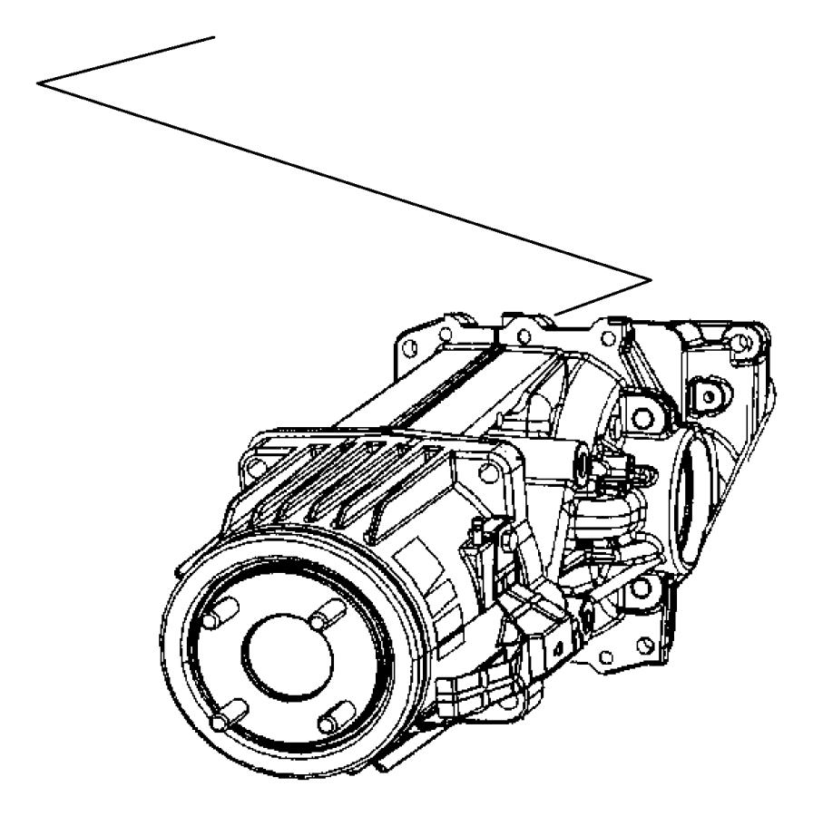 2011 Jeep Compass Differential. Rear axle. Dav, suspension