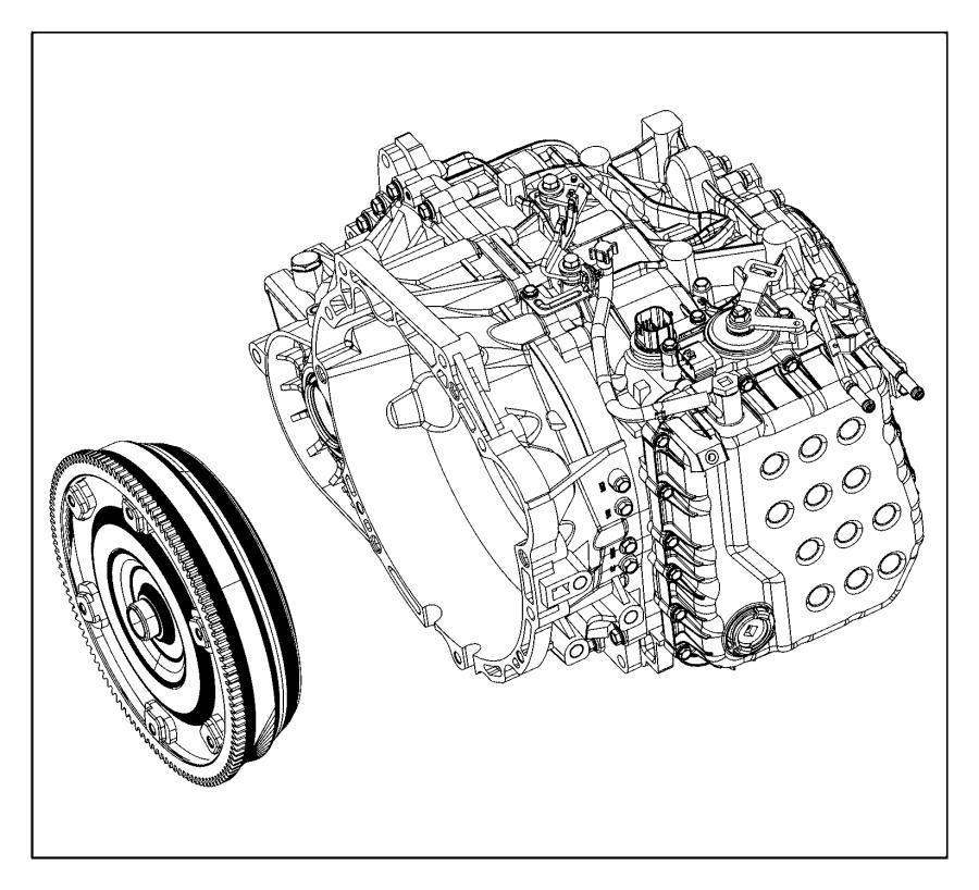 2015 Dodge Dart Trans. With torque converter. Ratio, axle
